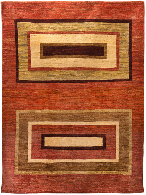 Psyco Brown & Red Rectangles Pashtun
